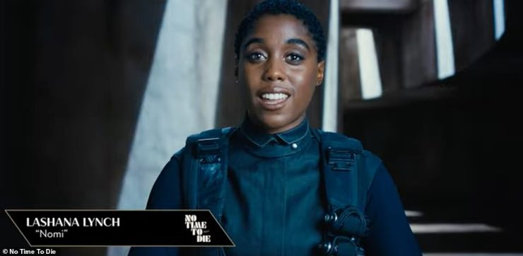Film: A new promotional video introduces fans to 'cocky' Nomi [Lashana Lynch] (pictured) and 'intense' Cuban agent Paloma [Ana De Armas] ahead of the No Time To Die release
