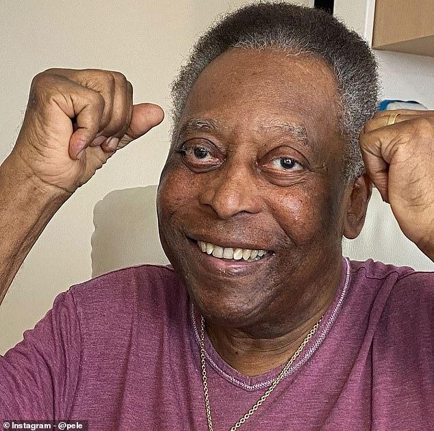 Pele shared a picture of himself smiling after coming out of the ICU on Tuesday