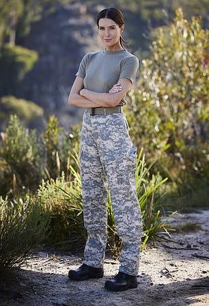 Erin pictured right on SAS Australia