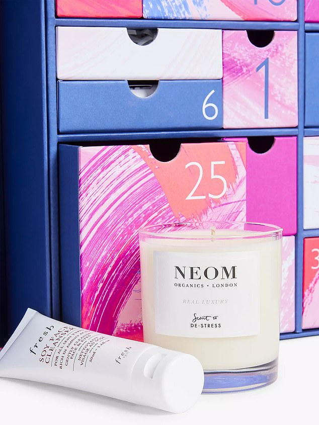 The John Lewis Beauty Advent Calendar is back for Christmas 2021 and bigger than ever.  It's filled with makeup, skincare, fragrance, and even a full-sized Neom candle to inspire a moment of self-care.