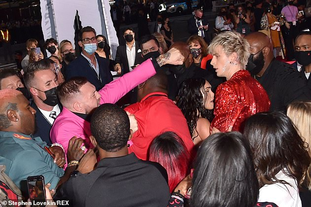 Security: Machine Gun Kelly has reportedly asked for her security to be 'ramped' after Connor punched her at the MTV Video Music Awards on Sunday.