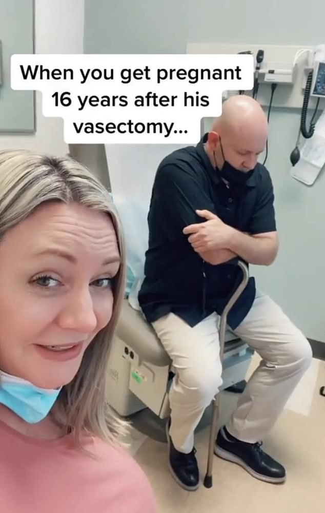Jenny claims her husband is 72, and had a vasectomy 16 years ago, making the pregnancy even more surprising