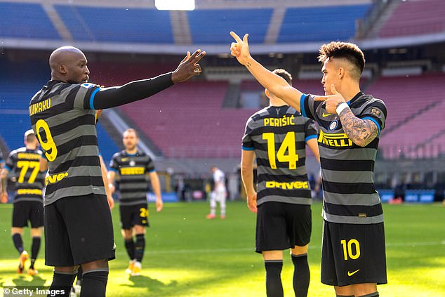 Martinez formed an extremely successful partnership with Romelu Lukaku for the Italian side
