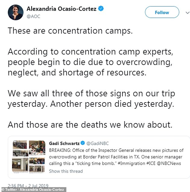 The outspoken politician sparked fury among members of the Jewish community after comparing migrant detention centres to concentration camps