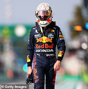 He also claims Red Bull knows Verstappen (above) is 'wrong' for the incident