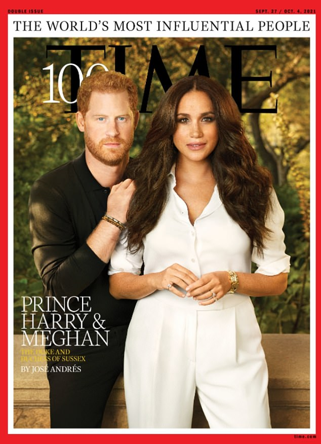 Harry and Meghan agreed to be the cover stars of Time Magazine's 100 most influential people which was released on the Duke of Sussex's 37th birthday