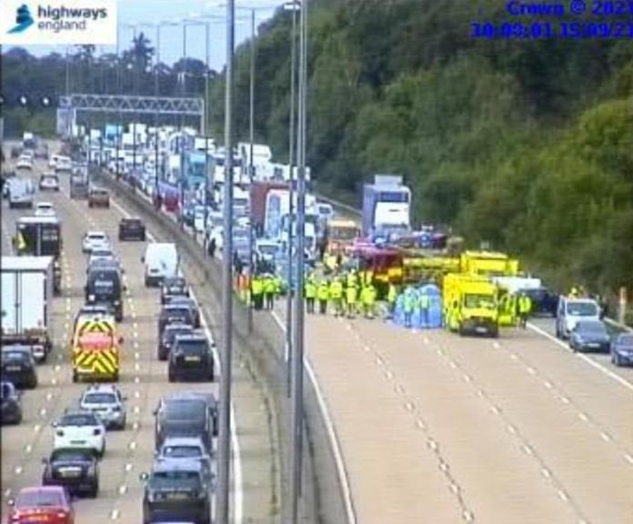 There has been an accident at Junction 10 this morning, though it is unclear if this was caused by the demos