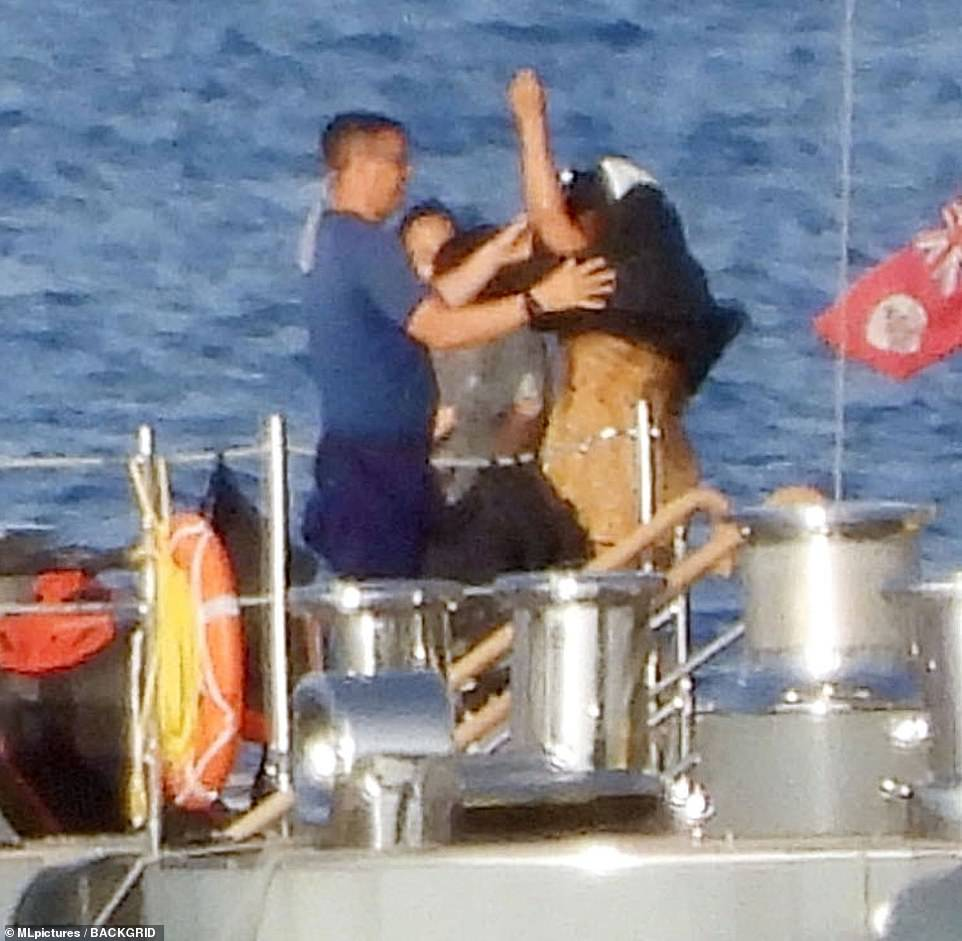 It's easy: The pair were seen donning precautionary life jackets before their excursion