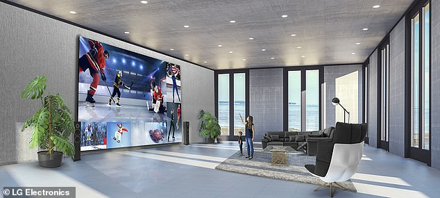 LG has launched a huge new TV called the Xtreme Home Cinema, which measures 325 inches (27 feet) in width