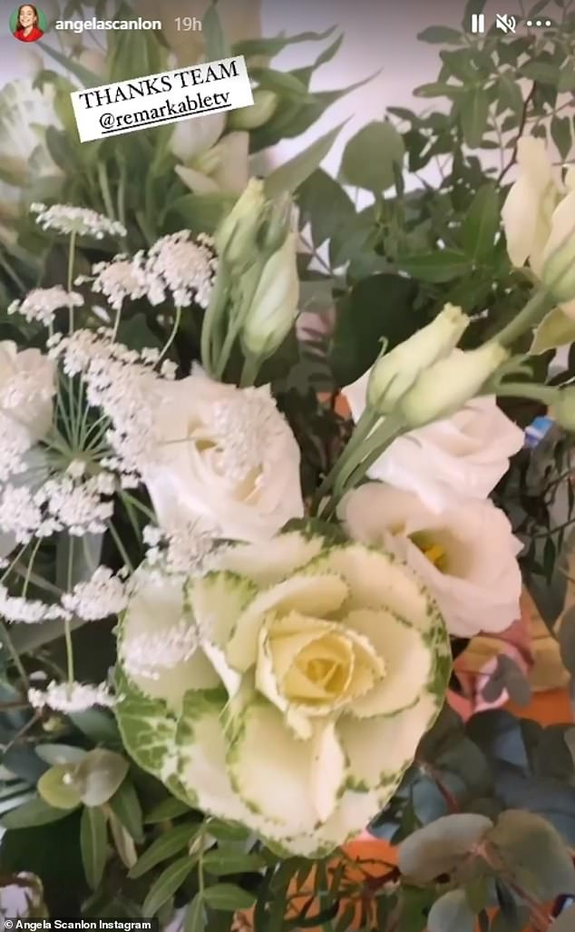 On recovery: She took to Instagram Stories to share some flowers sent by her team and was busy promoting her friend's podcast without mentioning the incident.