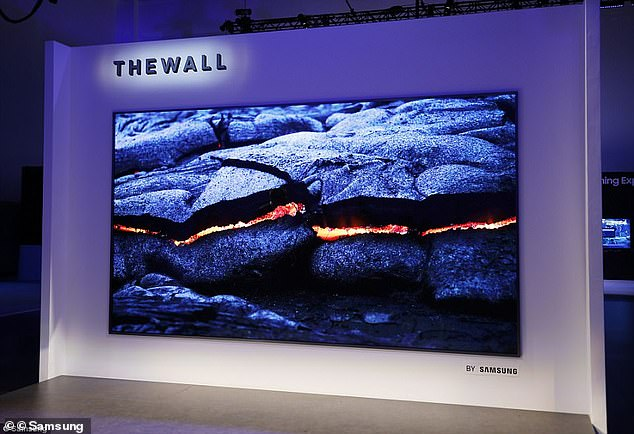 LG isn't the only firm to launch a giant TV - Samsung recently unveiled its massive screen called The Wall, which measures up to 1,000 inches