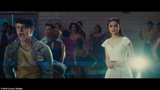 At the big dance:Maria heads to a dance and locks eyes with Tony, who is called a 'gringo'