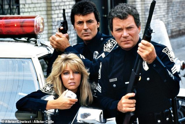 Another big TV series: The blonde beauty on TJ Hooker in 1982 with James Darren and William Shatner