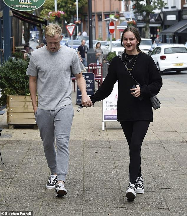 Bergkamp, daughter of former Arsenal striker Dennis, appeared to be in brighter spirits