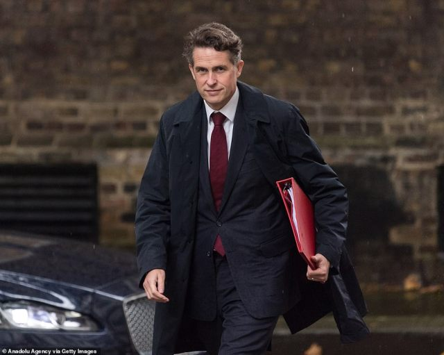 Education Secretary Gavin Williamson (file picture) lost out in Mr Johnson's brutal overhaul today