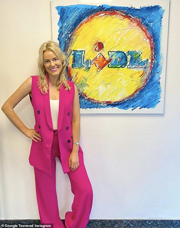 Back to the office:Love Island 's Georgia Townend has revealed she's returned to her job she had before signing up for the show, as she headed back to work at Lidl on Tuesday