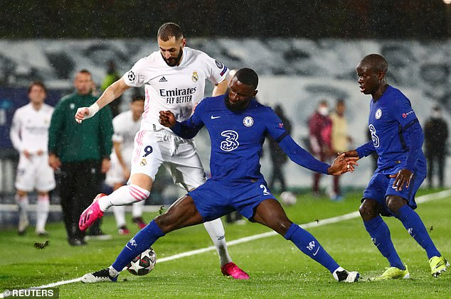 Several clubs are interested in Rudiger (second left), including Real Madrid