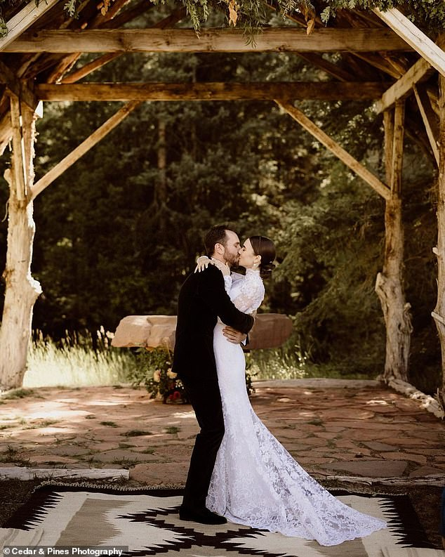 'We officially became each other's forever!' Collins and McDowell tied the knot at restored 19th century mining/ghost town turned luxury resort Dunton Hot Springs in Colorado on September 4