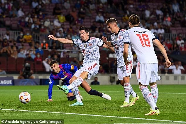 Robert Lewandowski ran the show, scoring twice as a dominant Bayern ran riot at Nou Camp