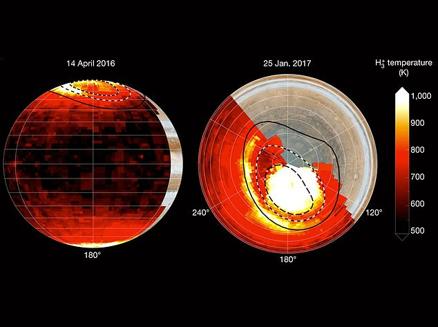 Last month, scientists at the University of Leicester, along with NASA created heat maps of Jupiter and found intense auroras are driving the extreme temperatures, despite only covering less than 10 percent of the planet
