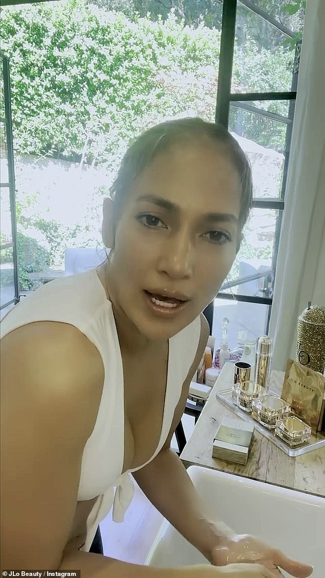 """Good stuff:Lopez then said she really wanted to have products that did more than one thing; her products multi task. 'I was like, """"Can we get it to do all the thing?'"""" she added. Next came serum and lotion"""