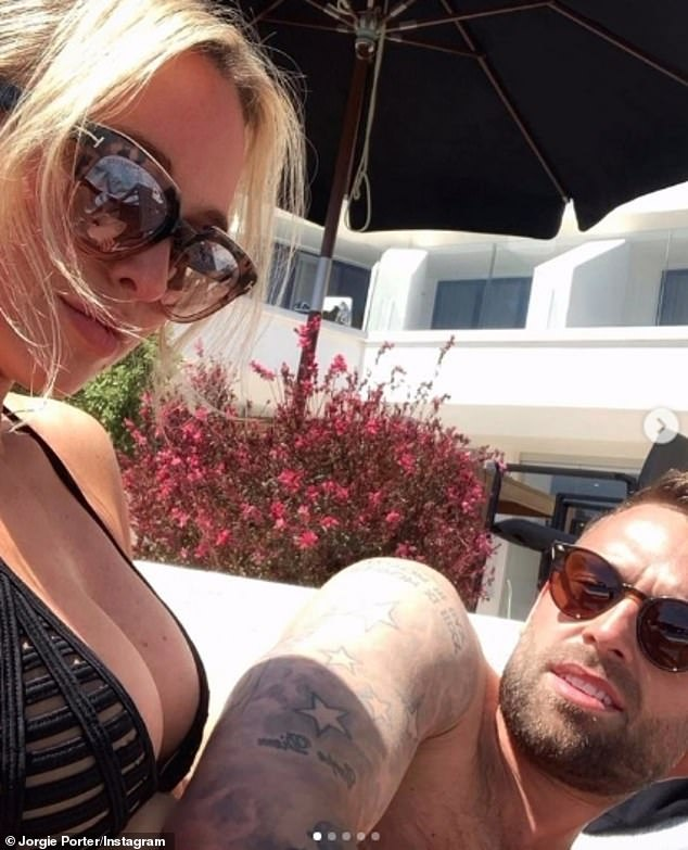 Loved-up: Jorgie's outing came just hours after she celebrated her relationship with her hunky businessman beau Ollie Piotrowski on Instagram