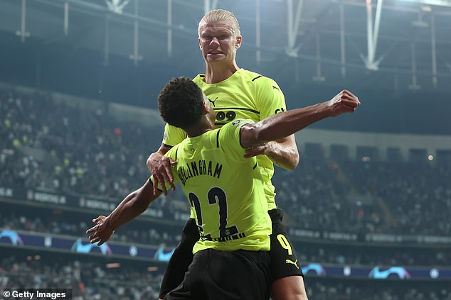 The England international also set up Erling Haaland to tap home Dortmund's second