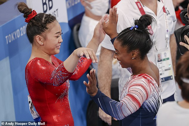 Teammate: Biles and Lee were supportive of each other throughout the Olympics in Tokyo