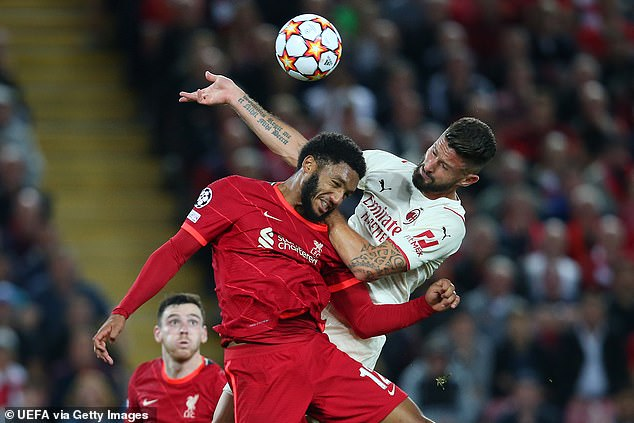 Jurgen Klopp's Reds recovered to make it 3-2, with Gomez eyeing up an England return soon