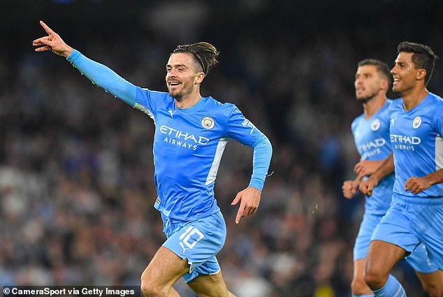 Jack Grealish scored on his European debut during Manchester City's 6-3 win over RB Leipzig