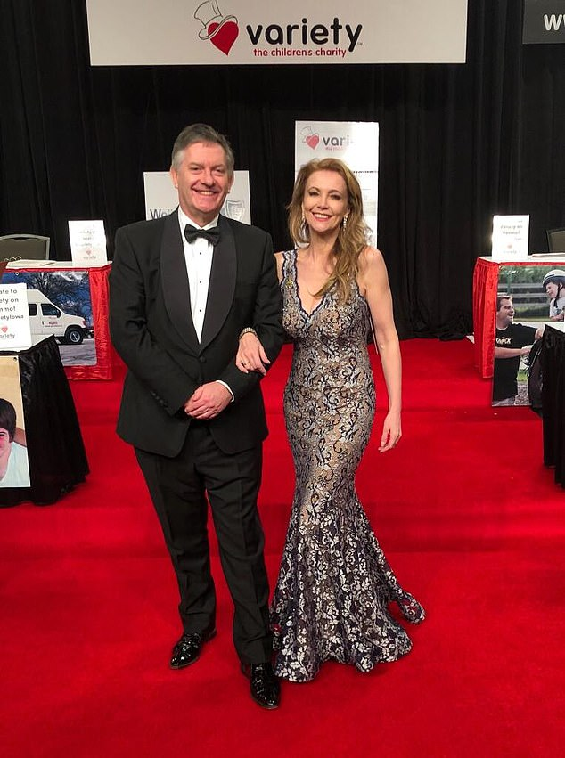 News anchor Simon McCoy (left) has a happy personal bulletin of his own: he has become engaged to 1980s pin-up Emma Samms (right)