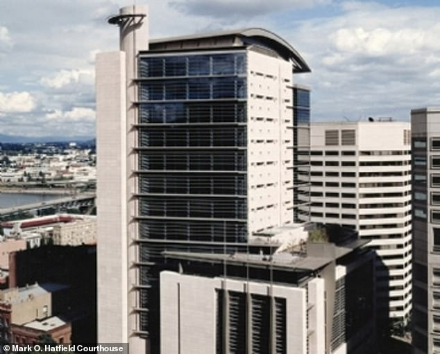 'I¿ve done everything I can to get things right,' Lizarraga told U.S. District Judge Karin J. Immergut at the Mark O. Hatfield United States Courthouse in Portland (pictured). 'I apologize to the courts and to everybody I affected.'