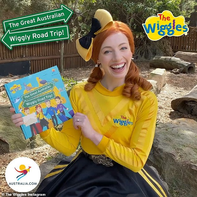 Campaign: The Wiggles and Tourism Australia have teamed up to promote domestic travel for families with children in the 'Holiday Here This Year' campaign. Pictured: Emma Watkins