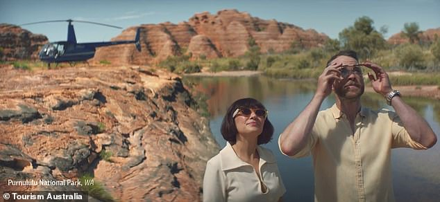 Promotion: The Blakes brought their own brand of humour to the ads, which aired earlier this year, as they urged viewers to 'go big' by exploring Down Under
