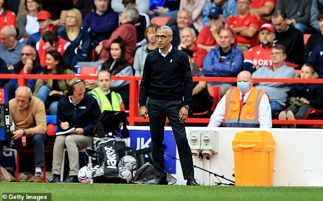 Chris Hughton was brought in to take the club back to the Premier League, but he has cut an increasingly forlorn and isolated figure on the touch line at the City Ground