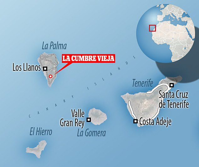 Experts have noticed an upsurge in seismic activity and magma displacements under the volcanic ridge of La Cumbre Vieja