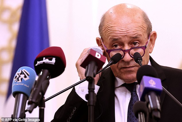 Foreign minister Jean-Yves Le Drian said yesterday that he felt he had been 'stabbed in the back' by Washington and London over the 'unacceptable' deal that means the loss of the £48billion order to build 12 diesel-powered submarines for the Royal Australian Navy
