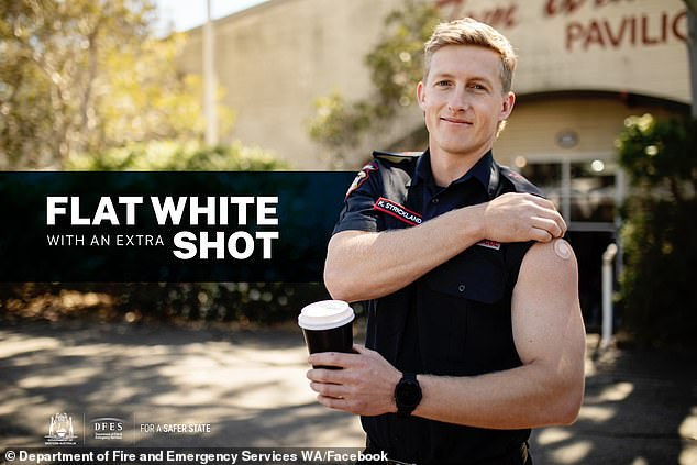 The Department of Fire and Emergency Services WA has had an unexpected response to its post promoting vaccination (pictured)