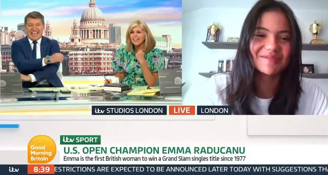 She told Good Morning Britain: 'I can't get a tennis court either. I still can't get a court. It means a lot that tennis is so popular now.' Shocked host Kate Garraway added: 'You can't even turn up going I'm Emma Raducanu give me the court?'