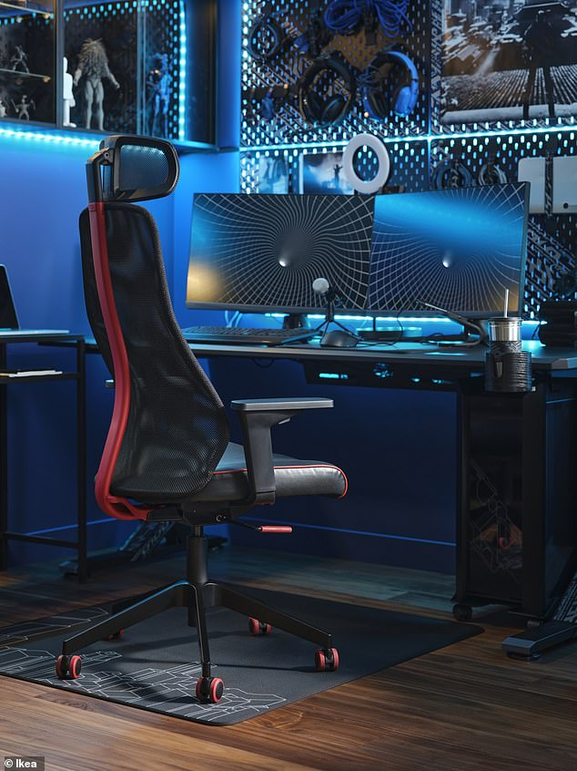 In total, the gaming range includes more than 30 products.  This includes furniture such as gaming desks, chairs and drawer units, and accessories such as mug holders, neck pillows and ring lights.