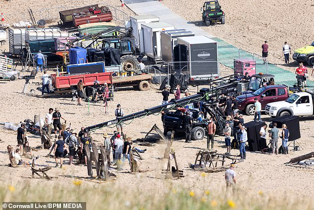 Dave and Krys Humphrey, owners of The Meadow Holiday Park at Holywell Bay, Cornwall, said filming of The Game of Thrones prequel House of the Dragon (pictured) has been a nightmare