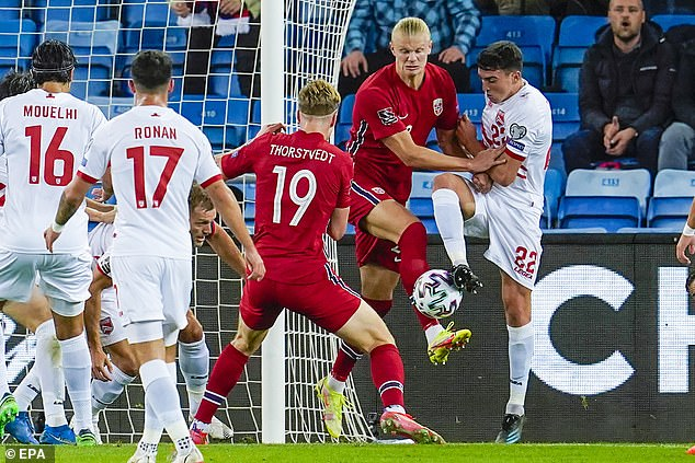 Haaland turned down Gibraltar skipper Roy Chipolina's request to swap shirt back in March