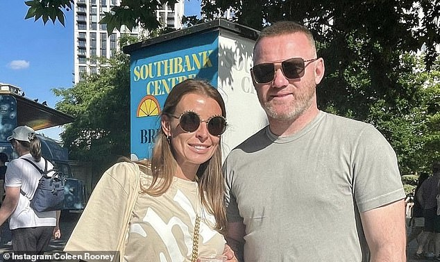 Long-standing: The former footballer and Coleen have been married for 13 years, with the pair celebrating their wedding anniversary in Southbank, London in June