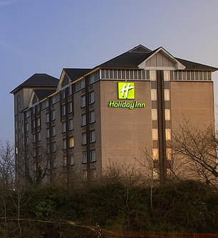 The Holiday Inn in Slow (pictured at right) cost Ms Amal £3,000 to spend 10 days in isolation.