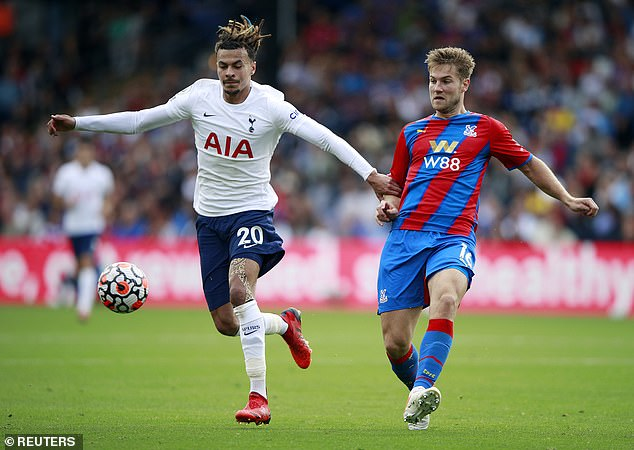 Joachim Andersen (right) joined Crystal Palace from Lyon for a £17million fee this summer