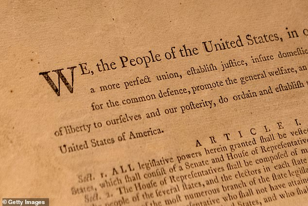 One of only 11 known surviving copies of the US Constitution will be sold in New York in November (pictured)