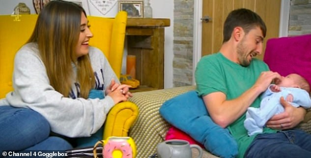 Family: Gogglebox's Pete Sandiford introduces his newborn baby son to the world in sweet visuals from new series airing Friday night