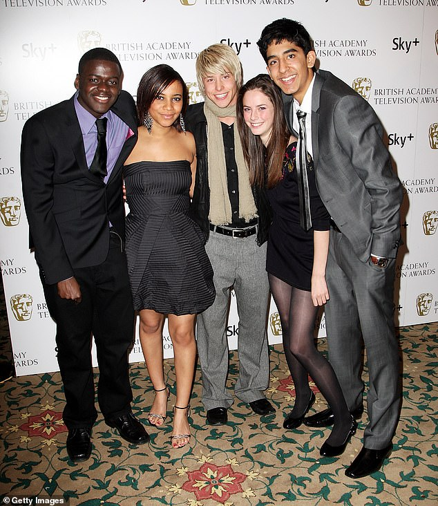 Famous Faces: The actress has become a big Hollywood star since gaining fame as Effie in Skins (with the cast in second right picture)
