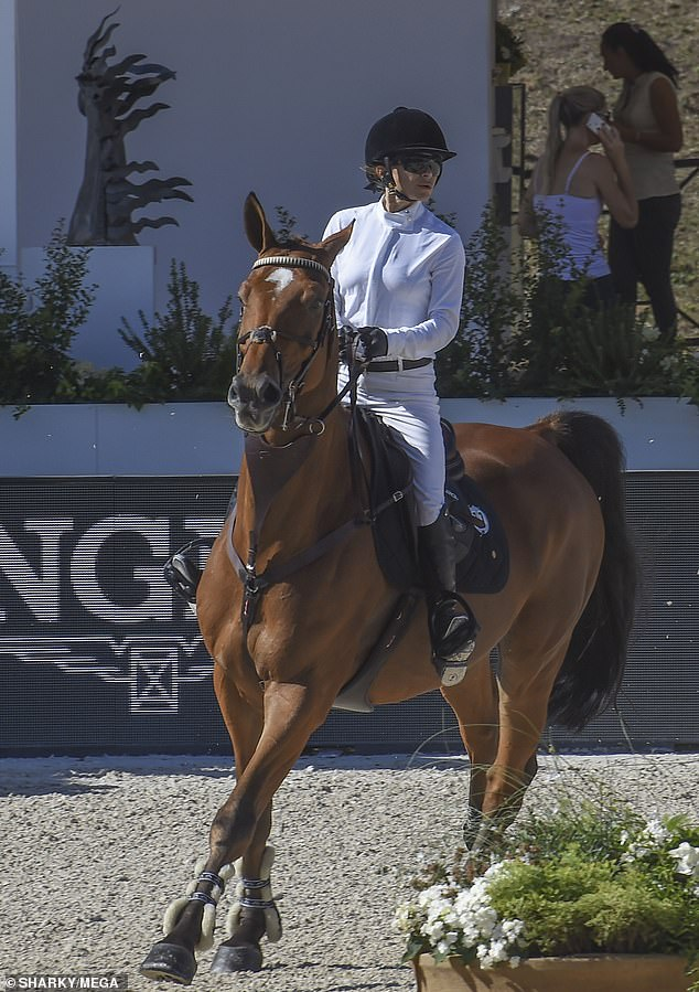 """Her passion: While her passion for competitive show jumping may surprise some, the fashion designer """"fell in love"""" with the sport for the first time at the age of six."""