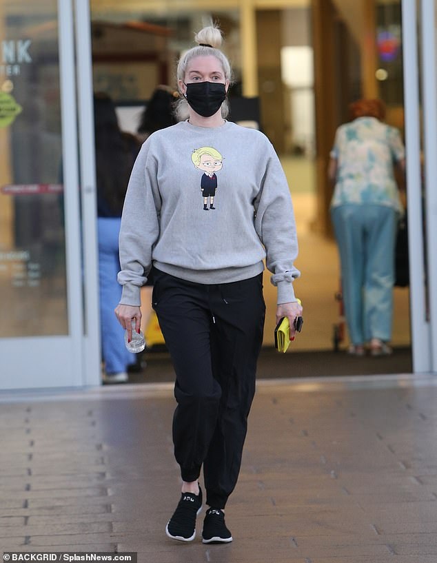 Pampered: Erica Jane, 50, was seen less in sweats after a visit to a Salon Republic location in Los Angeles on Friday